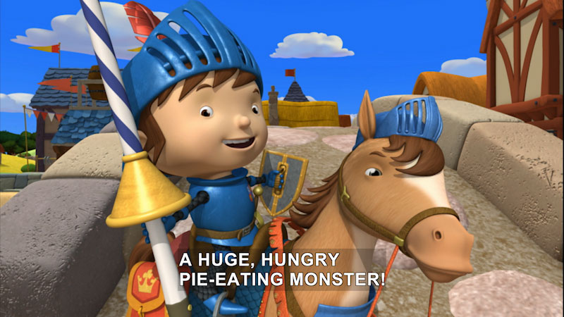 Still image from Mike the Knight: Mike the Knight and the Invisible Monster/Mike the Knight and Dragon Squires