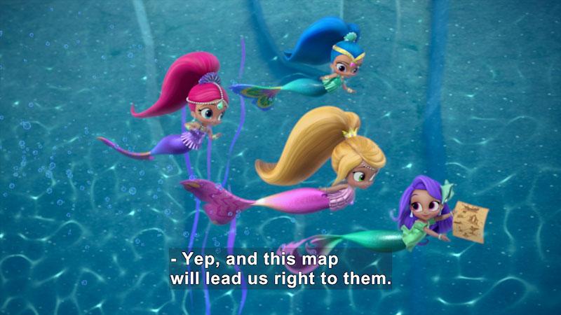 Still image from Shimmer and Shine: Trick or Treasure/Easy as Pie