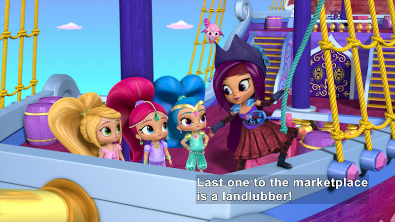 Still image from Shimmer and Shine: The Pirate Genie