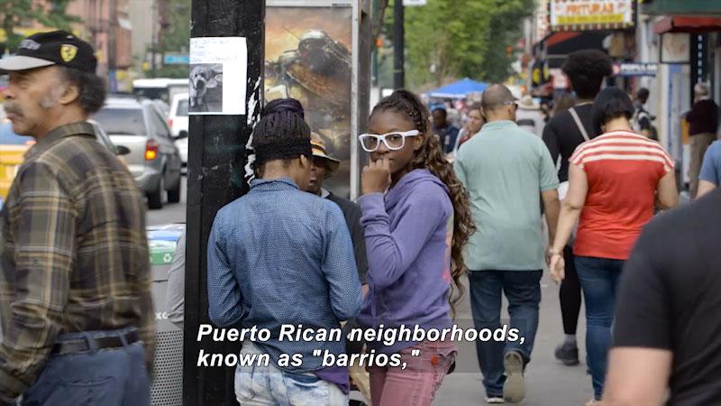 Still image from Bare Feet With Mickela Mallozzi: Nuyorican Barrios