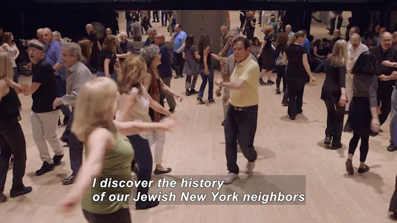 Still image from Bare Feet With Mickela Mallozzi: Jewish Roots