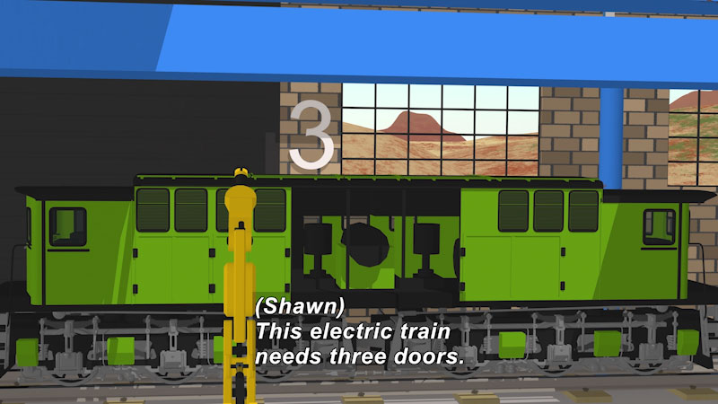 Still image from Learn Numbers at the Train Factory With Shawn and Team!