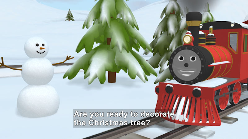 Still image from Learn Colors and Decorate the Tree With Shawn the Train