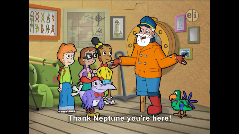 Still image from Cyberchase: An Urchin Matter