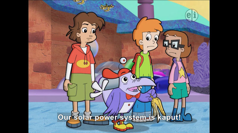 Still image from Cyberchase: Going Solar