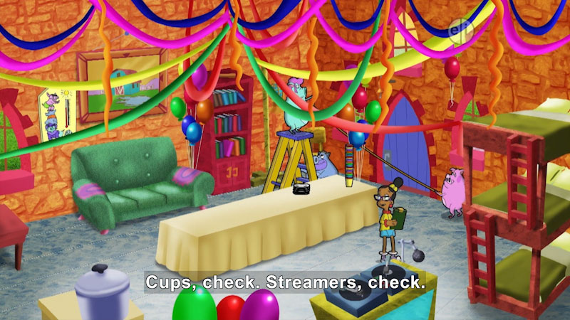 Still image from Cyberchase: Housewarming Party