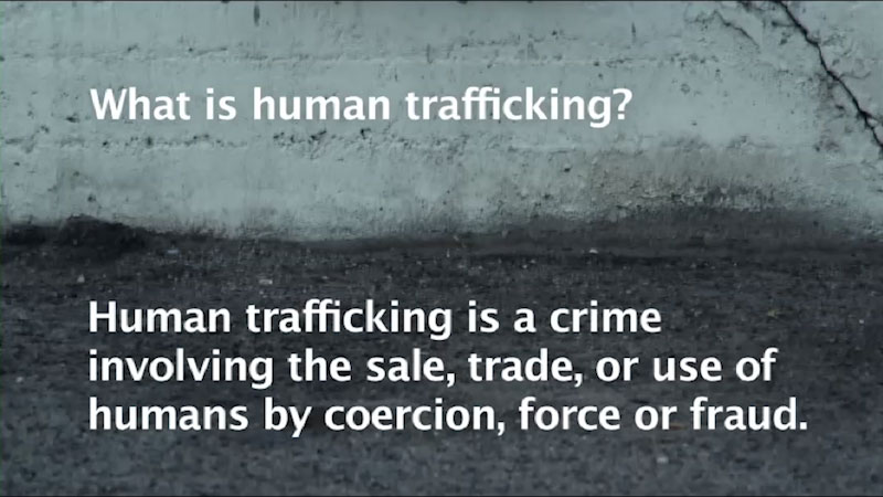 Still image from Stop Traffick: Human Trafficking in America