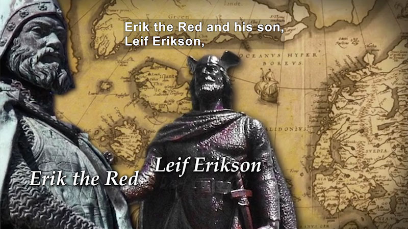 Still image from World Explorers: Erik the Red & Leif Erikson