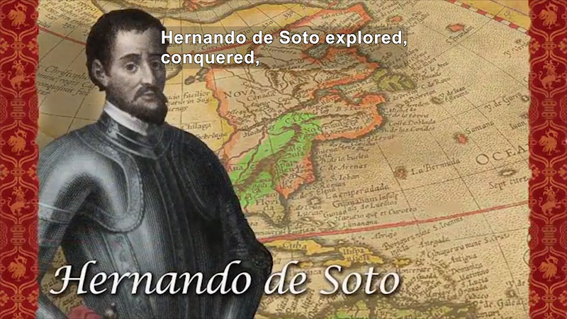 Still image from World Explorers: Hernando de Soto