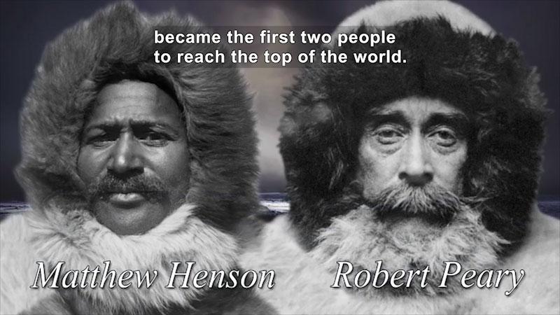Still image from World Explorers: Matthew Henson & Robert Peary
