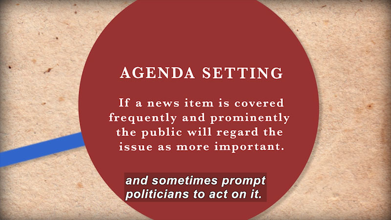 Still image from Founding Principles: American Governance in Theory and Action (Chapter 7--The Media)