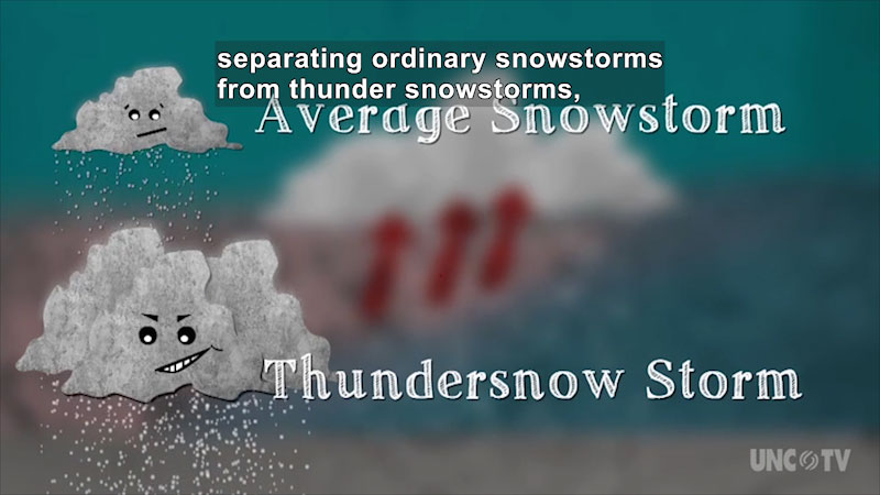 Still image from Seasonal Science: Thundersnow
