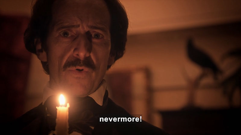 """Still image from Edgar Allan Poe: Buried Alive (""""The Raven"""")"""
