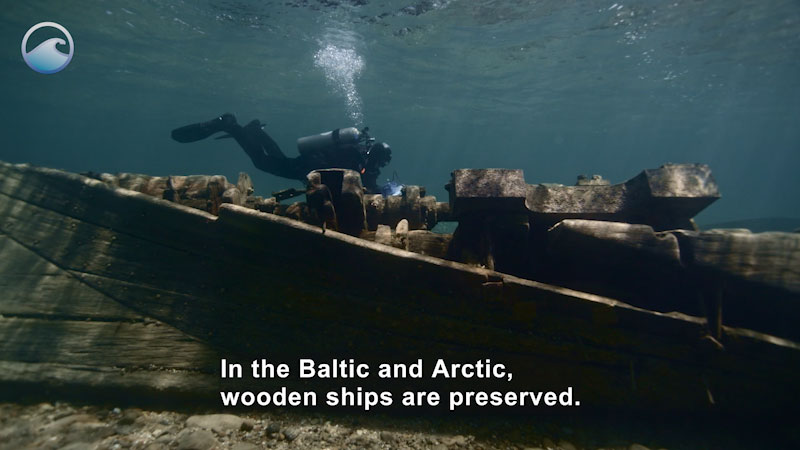 Still image from Adventures of a Maritime Archaeologist: Ocean Time Capsules