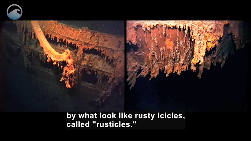 Still image from The Titanic Wrecksite