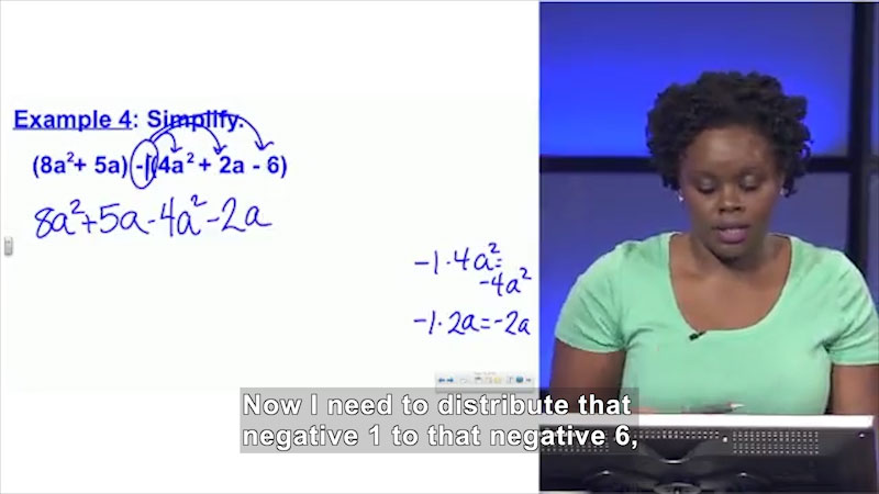 Still image from Welcome to Algebra I: Adding and Subtracting Polynomials