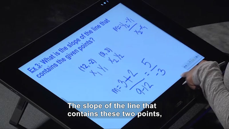 Still image from Welcome to Algebra I: Calculating the Slope When Given Two Points