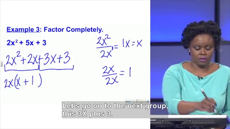 Still image from Welcome to Algebra I: Factoring Trinomials With a Leading Coefficient Not Equal to 1