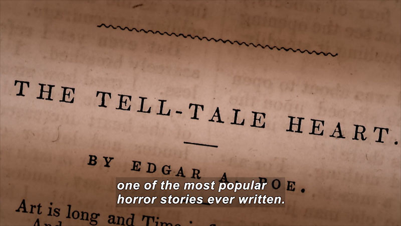 "Still image from Edgar Allan Poe: Buried Alive (""The Tell-Tale Heart"")"