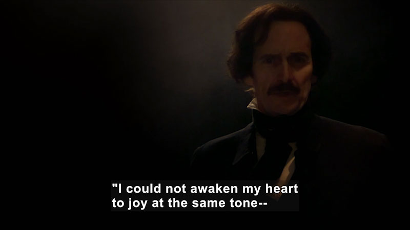 Still image from Edgar Allan Poe: Buried Alive (Lord Byron, Poe, and Poetry)