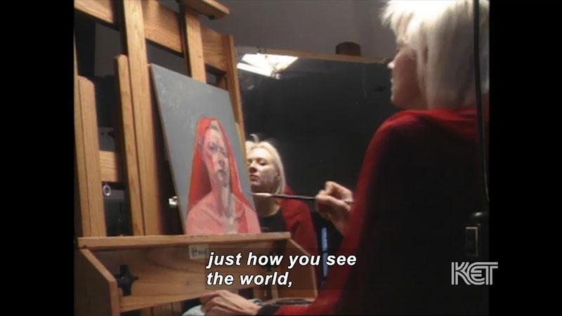 Still image from Visual Arts Toolkit: Self-Portrait--Gaela Erwin