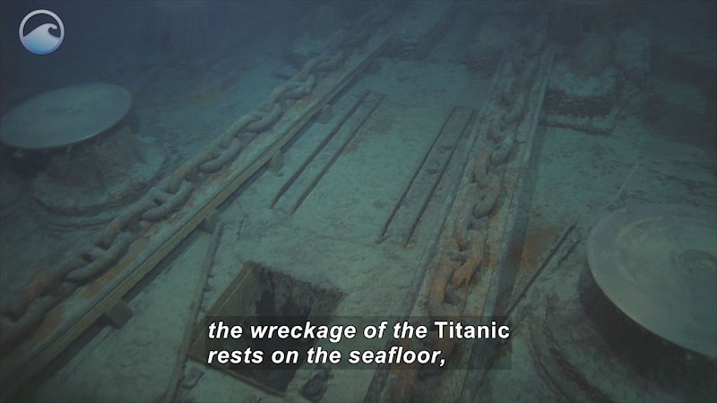 Still image from Protecting Titanic