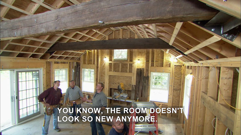 Still image from This Old House: Trade School--Fasten Those Timbers