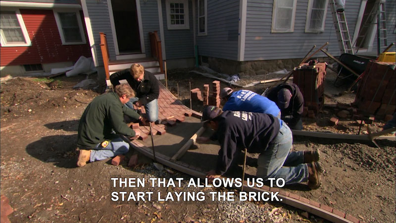 Still image from This Old House: Trade School--Follow the Winding Brick Path
