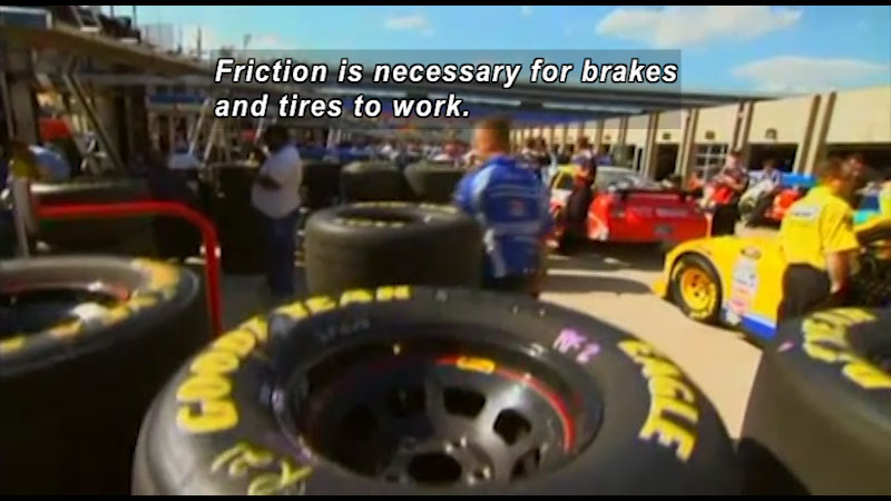 Still image from The Science of Speed: Friction & Heat