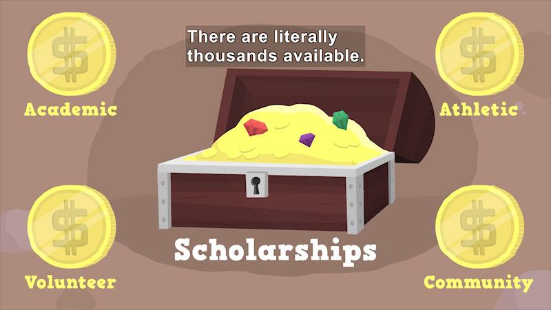 Still image from Applying for Scholarships
