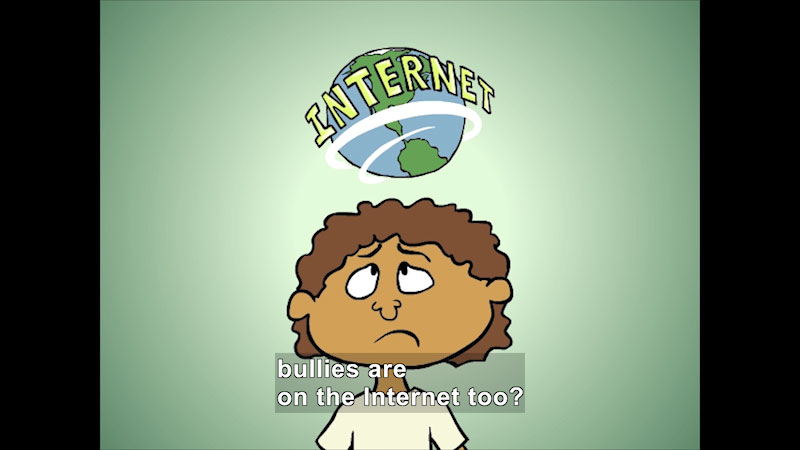 Still image from Cyberbullies Are No Fun!