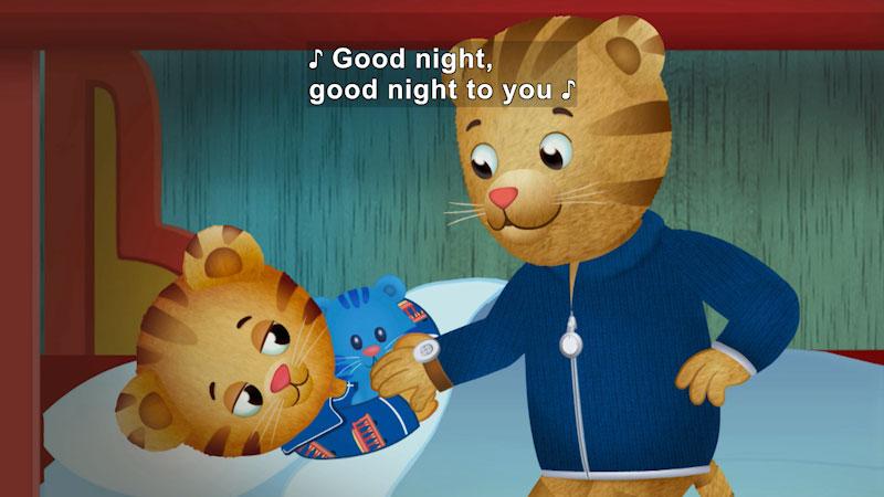 Still image from Daniel Tiger's Neighborhood: Daniel Goes to Sleep/Prince Wednesday Sleeps Over