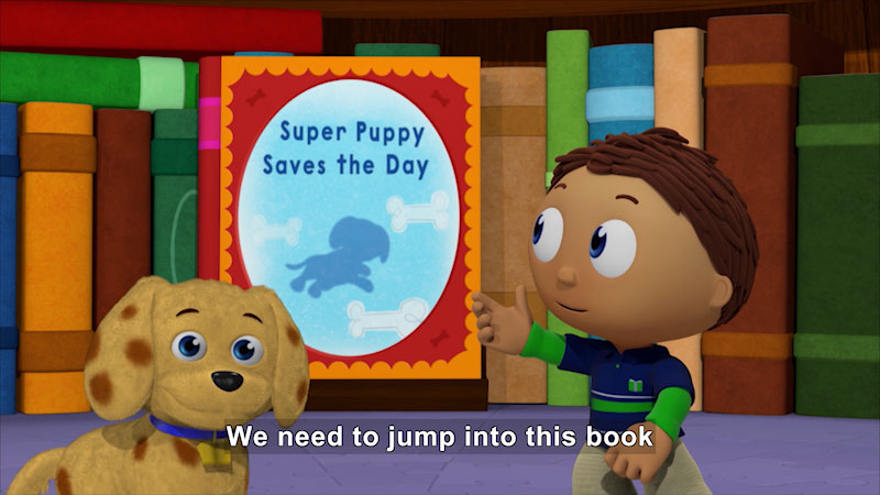 Still image from Super Why! Super Puppy Saves the Day
