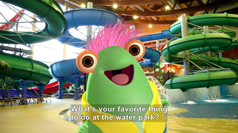 Still image from Marvie Visits a Water Park