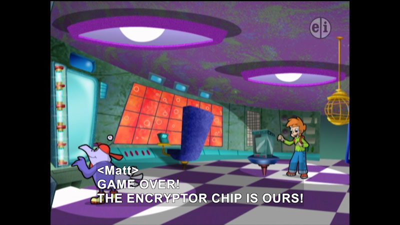 Still image from Cyberchase: Find Those Gleamers