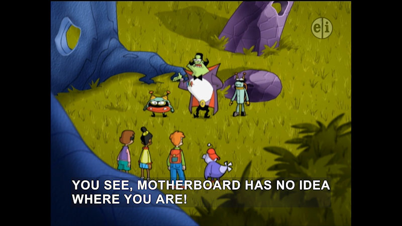 Still image from Cyberchase: Size Me Up