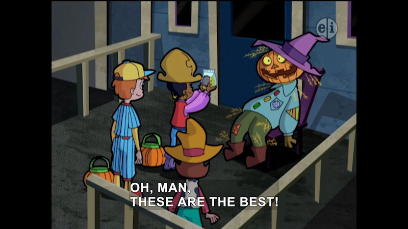 Still image from Cyberchase: Trick or Treat