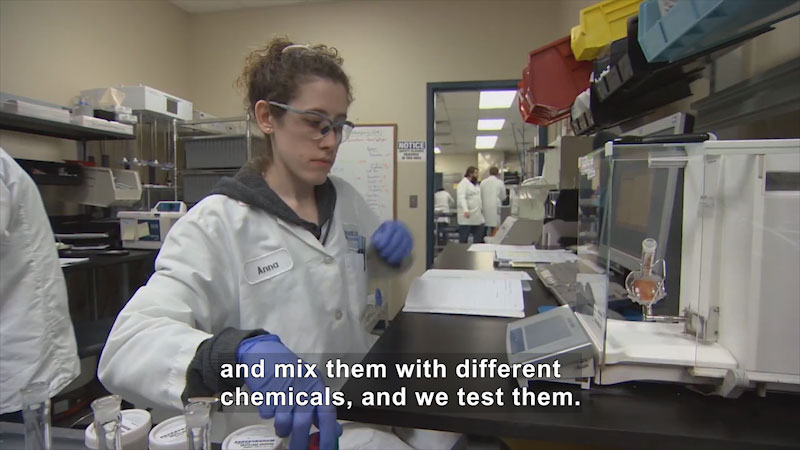 Still image from Deaf and Hard-of-Hearing STEM Professionals: Anna Thelen, Chemistry Technician at Mérieux NutriSciences USA