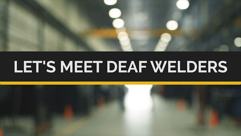 Still image from Deaf and Hard-of-Hearing STEM Professionals: Let's Meet Deaf Welders