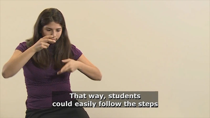 Still image from Teaching & Learning: Teaching (Giving Directions)
