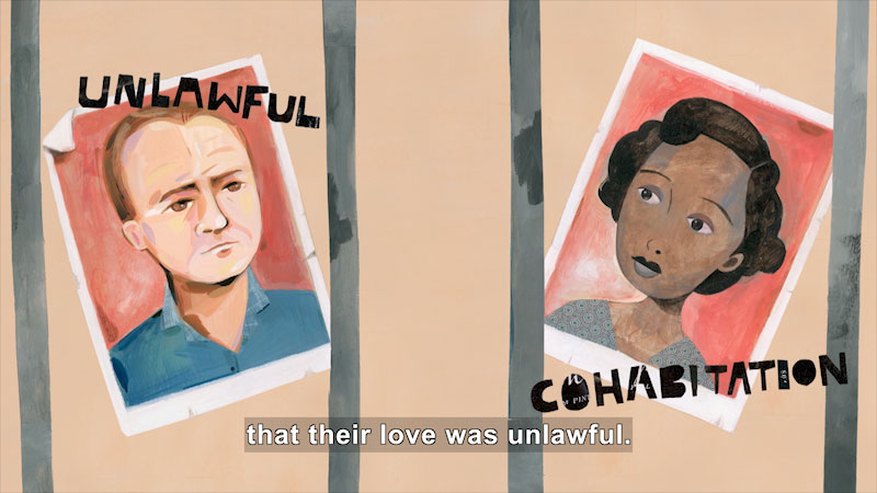 Still image from Author's Notes (The Case for Loving: The Fight for Interracial Marriage)