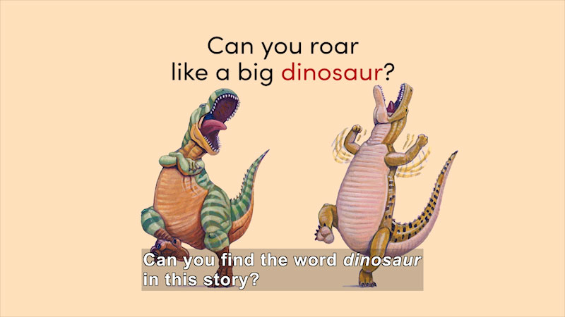 Still image from How Do Dinosaurs Learn to Read? (About Reading)