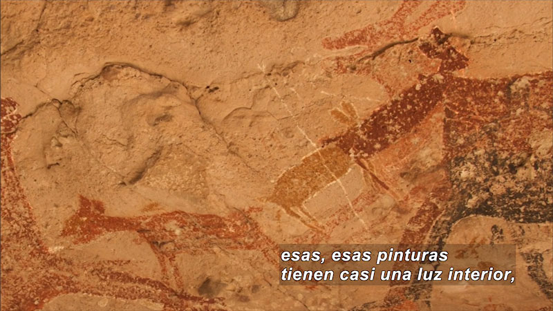 Still image from Cave Painting: La Pintada Cave (Spanish)
