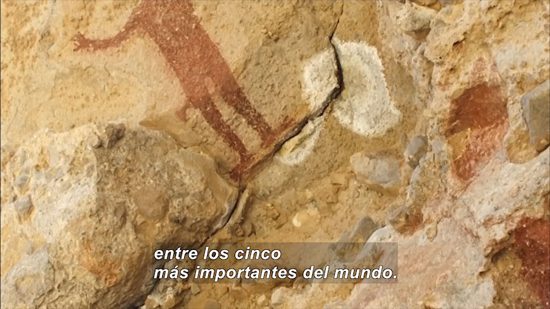 Still image from Cave Painting: Large Mural Painting (Spanish)