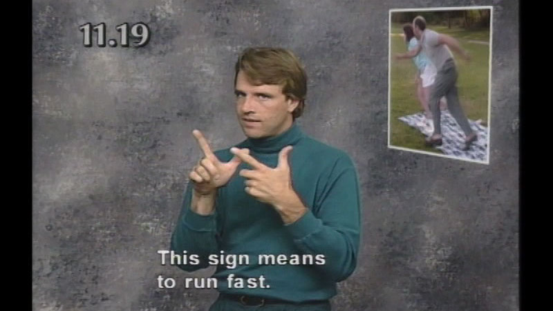 Image from: Beginning ASL Videocourse #11: Playing In The Park