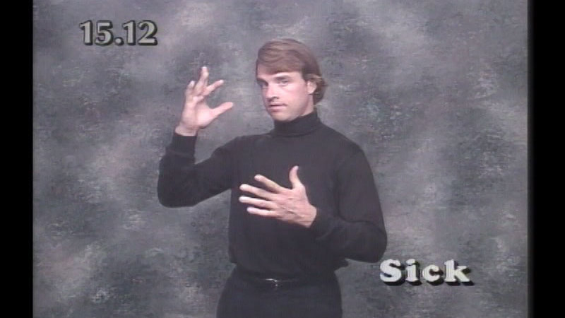 Image from: Beginning ASL Videocourse #15: Review And Practice Sessions (Lessons 11-14)