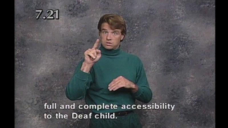 Image from: Beginning ASL Videocourse #7: A School Daze