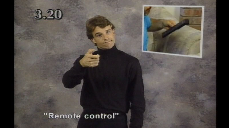 Image from: Beginning ASL Videocourse #3: Where's The TV Remote?