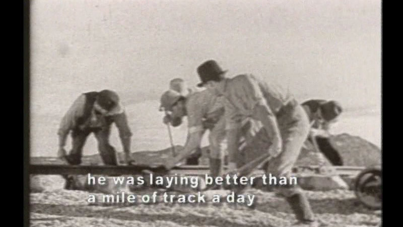 Still image from America's Transcontinental Railroad