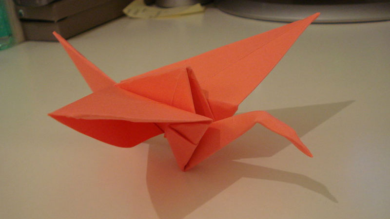 Still image from How To Fold A Paper Crane
